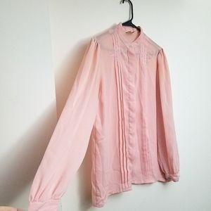 Vintage baby pink blouse